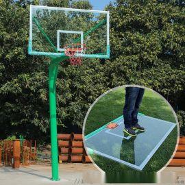 地埋固定篮球架 165/220固定圆管篮球架厂家