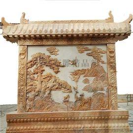背景墙浮雕石材制作大理石石雕浮雕装饰