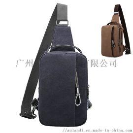 狮岭单肩包厂家韩版充电防水帆布耐磨小背包斜跨单肩包