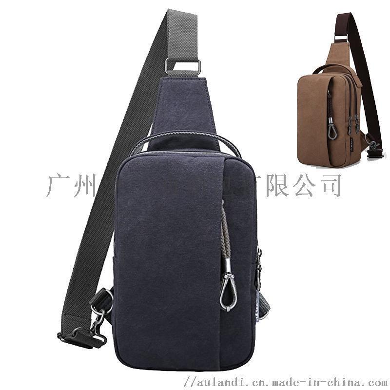 獅嶺單肩包廠家韓版充電防水帆布耐磨小揹包斜跨單肩包