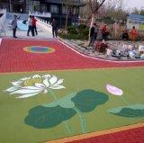 菏泽郓城彩色沥青混凝土郓城彩色路面施工效果