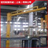 行吊180度電動迴轉 定柱式旋臂起重機 立柱式懸臂吊廠家直銷