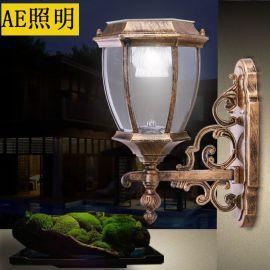 AE照明AE-TYNBD-02 太陽能壁燈陽能燈戶外壁燈別墅家用LED防水路燈門燈景觀花園燈具庭院外牆壁燈 8寸1.2W