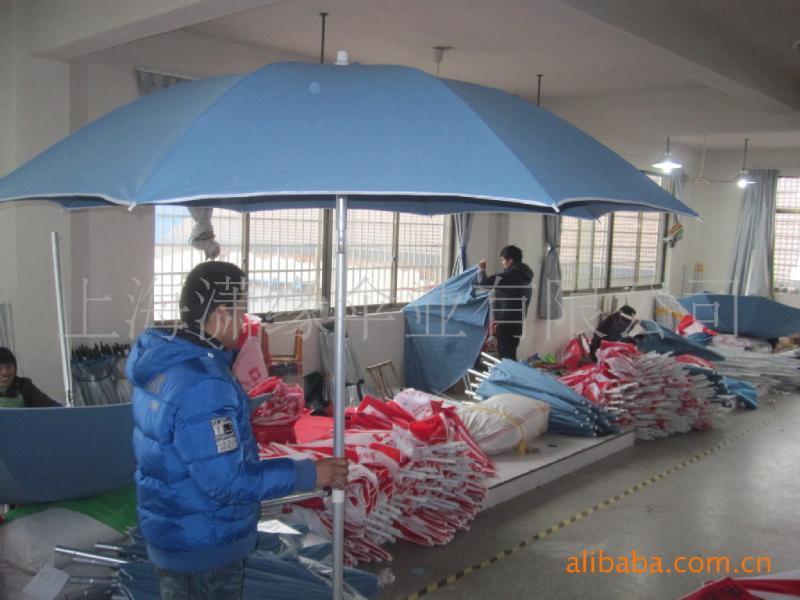 帆布沙滩伞定制、铝合金伞架带转向沙滩伞、棉质帆布沙滩遮阳伞