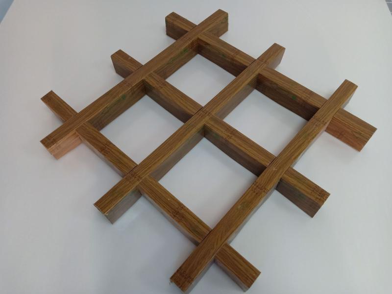 鋁格柵廠家供應木紋鋁格柵規格天花吊頂定製