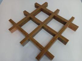 铝格栅厂家供应木纹铝格栅规格天花吊顶定制