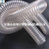 廠家批發衛生級防靜電吸塵除塵管,pu透明鋼絲伸縮軟管120mm