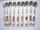 陶瓷勺 瓷柄咖啡勺 (多款花色可選)