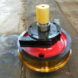 φ500*150车轮组生产厂家 双缘行车车轮组