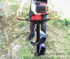大马力大直径螺旋式植树挖坑机 拖拉机后输出带动挖坑机