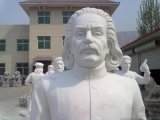 汉白玉人物雕塑,爱因斯坦雕像