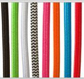 厂家直销 VDE认证 彩色编织线 彩色电源插头线