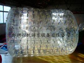 游乐场水上游乐设备透明充气滚筒