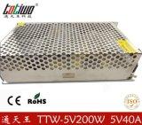 正品通天王5V40A开关电源 200W变压器 5V稳压电源 质保三年