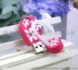 人字拖造型USB 拖鞋U盘 PVC 硅胶材质 礼品u盘定做