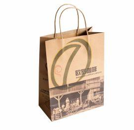 定做高档牛皮纸袋,上海纸袋印刷工厂