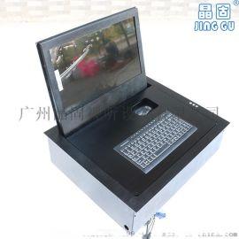 19寸液晶屏翻转器 电动遥控折叠显示器支架