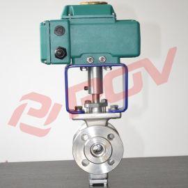 开关型0-10V蒸汽电动V型球阀
