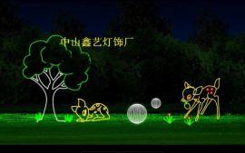 小花图案灯草坪植物动物灯LED路灯杆造型灯梦幻灯光节装饰灯