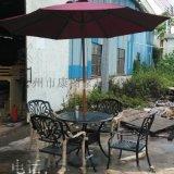 欧式铁艺铸铝餐桌椅 花园铸铝桌椅