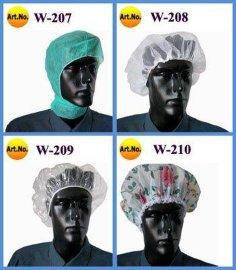 无纺布浴帽/网眼帽(W-207, W-208)