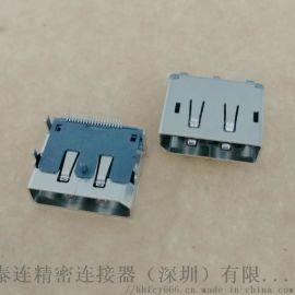 DispalyPort板上贴片母座 90度插板 有柱 20P-DP高清接口 贴片式
