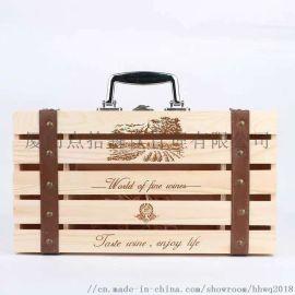 福建**葡萄酒木盒酒箱,红酒礼盒定做生产加工厂家