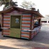 复古风大型美食售 亭