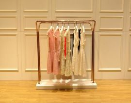 双排落地服装展示架,女装店双排落地服装展示架,双排落地服装展示架定制