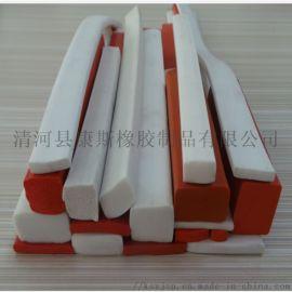 硅胶发泡密封条 发泡耐高温密封胶条 支持定制