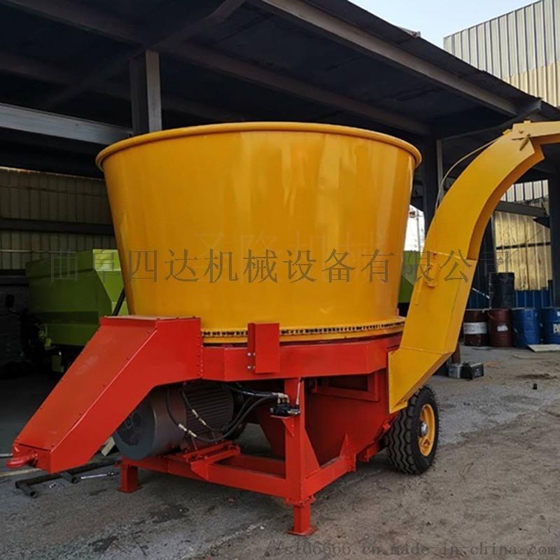 养殖场专用草捆式秸秆粉碎机,圆草捆转盘粉碎机