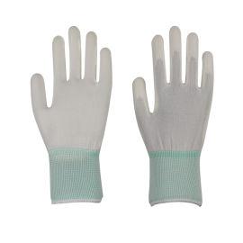 尼龍PU塗掌防靜電無塵工作手套