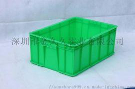 厂价直销兰色全新HDPE料26号塑料周转箱生产