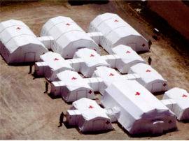 卫生应急充气帐篷 白色帐篷图片