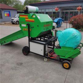 现货出售 全自动包膜机 牧草饲料包装机 干湿打包机