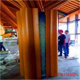 桥头包柱铝单板造型定制 中庭喇叭包柱铝单板厂家