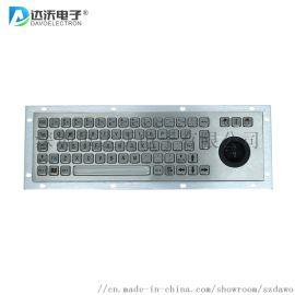 金属工业带轨迹球键盘