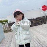 新款渐变色棉服女童冬装棉服童装外套小童宝宝加