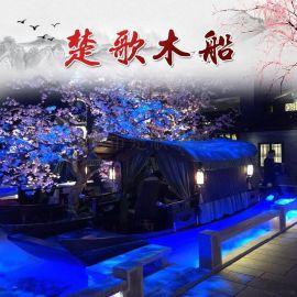 云南德宏连锁店里的餐饮船餐厅船制作精良