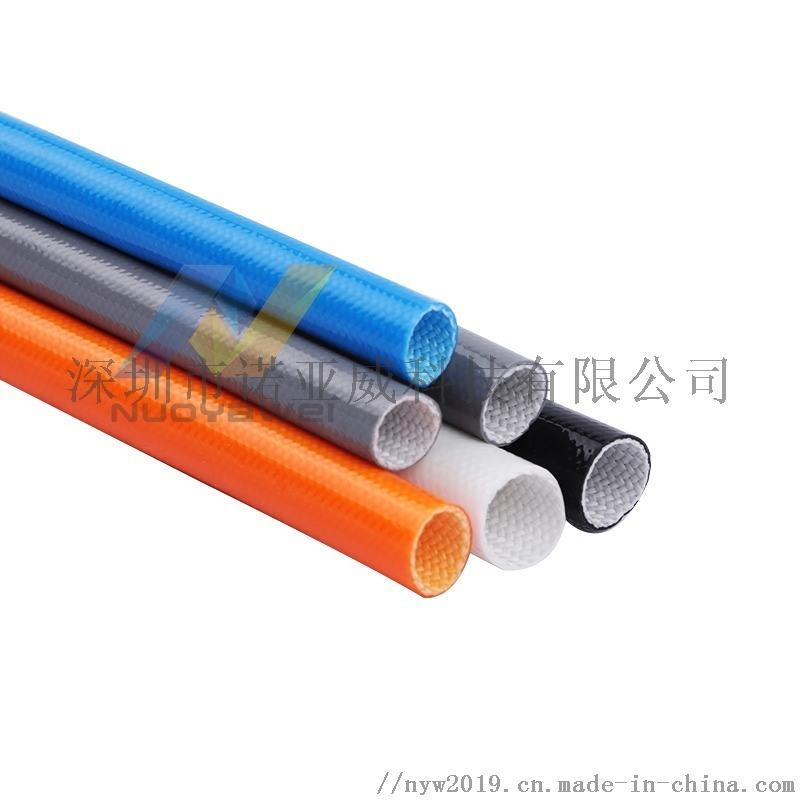 厂家直供外胶内纤套管 硅橡胶玻纤管