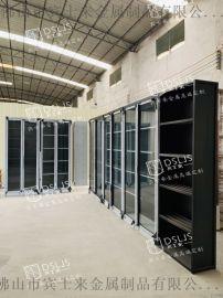 黑鈦拉絲酒窖不鏽鋼酒櫃設計常溫酒櫃定制不鏽鋼酒櫃