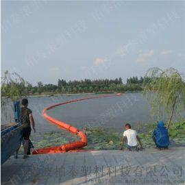 拦污漂装置由多个相同拦污排由钢丝绳连接环连接