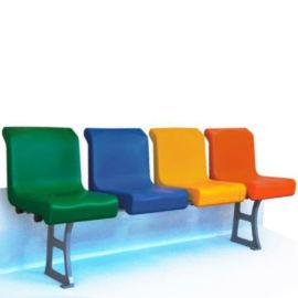固定看台体育场馆座椅 塑料椅面中空吹塑椅子