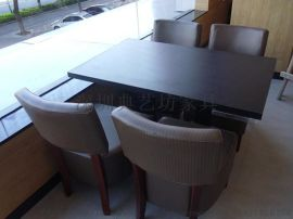 休闲西餐厅咖啡厅桌子 甜品店奶茶店快餐桌椅组合定制简约洽谈桌