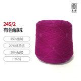 【志源】厂价批发舒适保暖健康环保有色貂绒 24S/2短貂含45%兔绒