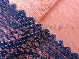 蕾丝面料复合雪纺_蕾丝热熔胶复合镭射布贴合雪纺