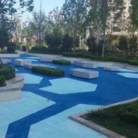 供应山东城市景观地坪材料--彩色透水混凝土施工