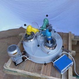 玛瑙三头研磨机 XPM120*3实验室研磨机