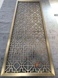 钛金不锈钢激光屏风、花格表面处理尤其重要突出装饰