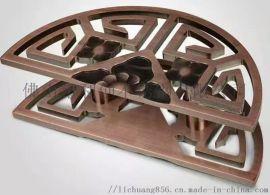 不锈钢直纹管大拉手订做 仿古铜镀色大门拉手